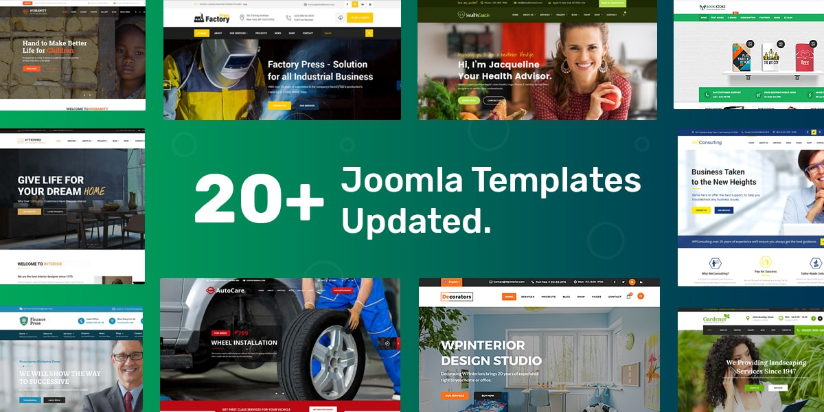 20+ Joomla Templates Get Latest SP Page Builder Pro and More