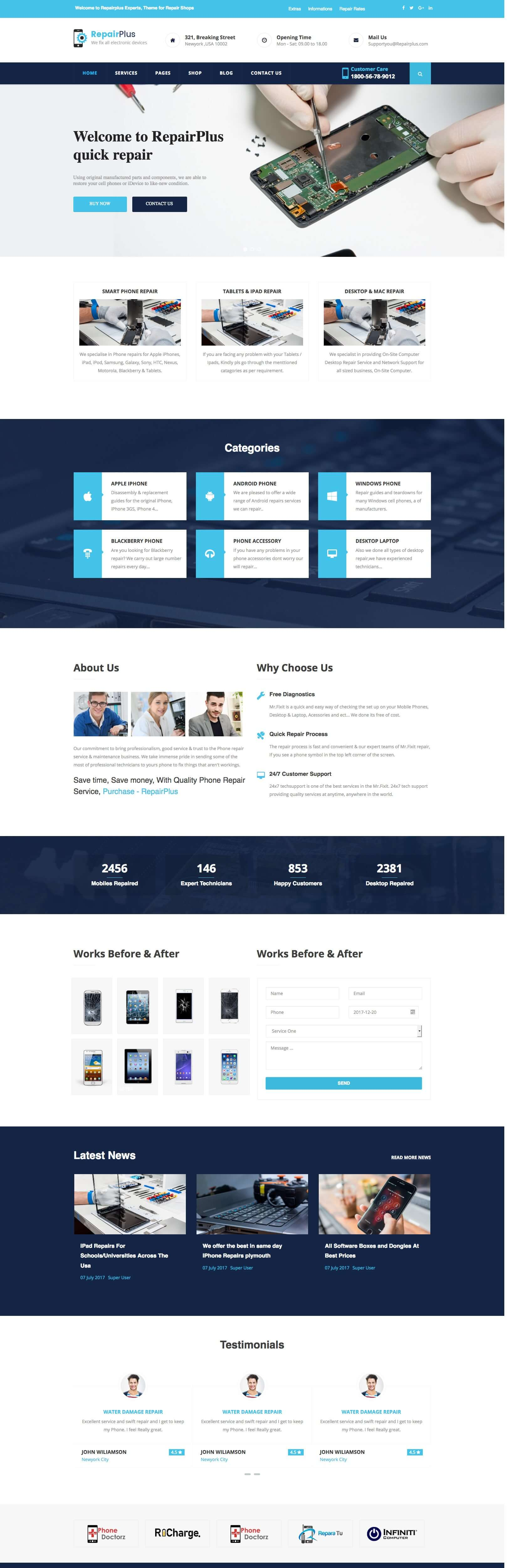Repairplus - Computer, Electronics and Phone Repair Joomla Template