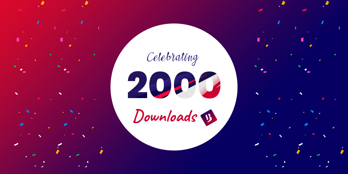 Celebrating 2000 Happy Downloads!