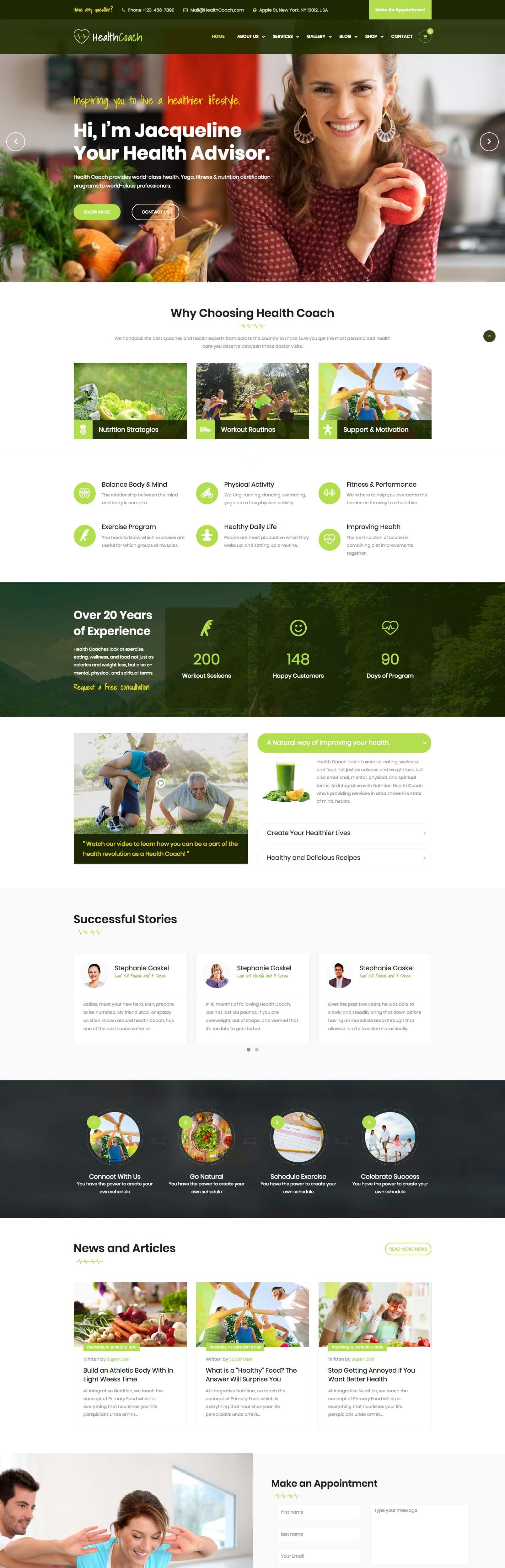 Healthcoach - Joomla Template for Fitness, Health, Personal Life Coaching