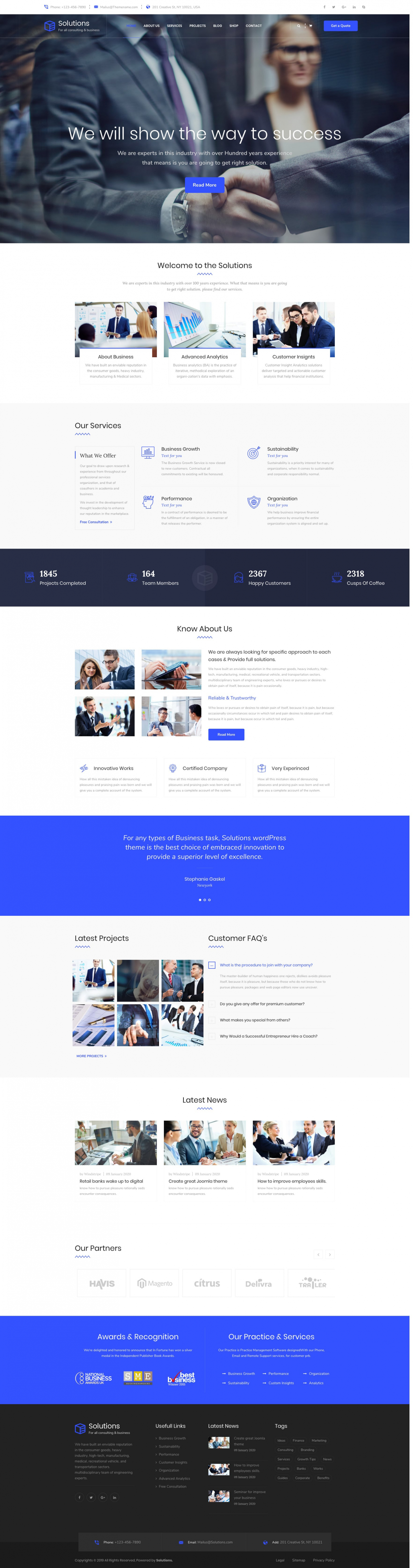 Solutions - Responsive Business Consulting Joomla Template