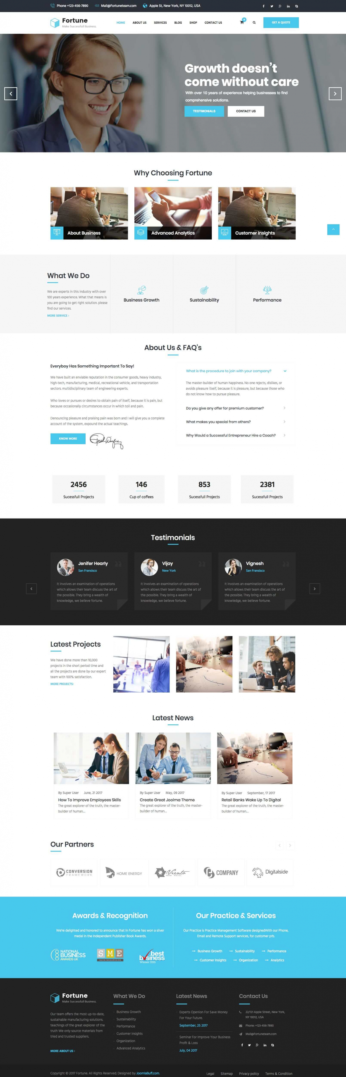 Fortune - Finance, Consulting & Professional Business Joomla Template